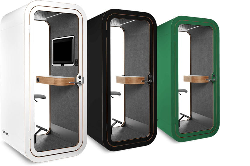 Office phone booths in different colours