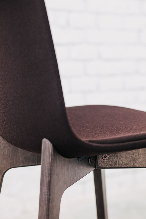Lottus Wood chair with upholstery option