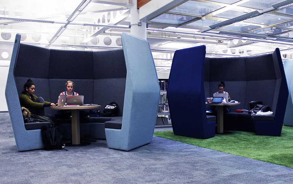 Office study Caves in library