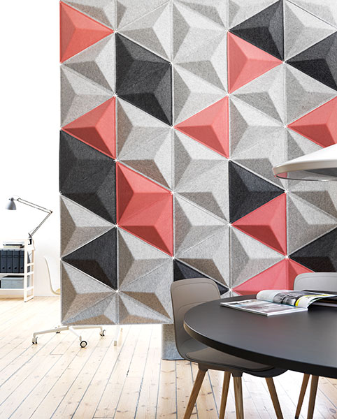 Aircone Panels Acoustic Felt Panel Suspended Felt