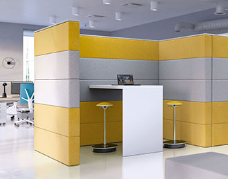 Sand acoustic wall with table