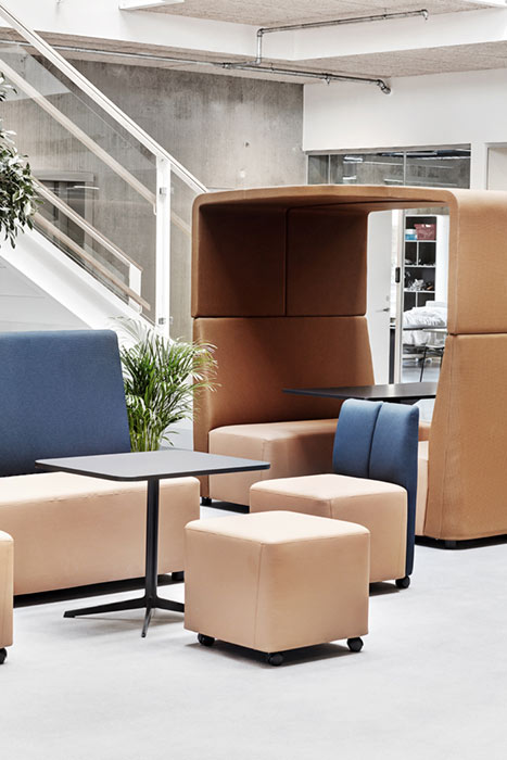 Fourlikes modular den and modular banquette seating