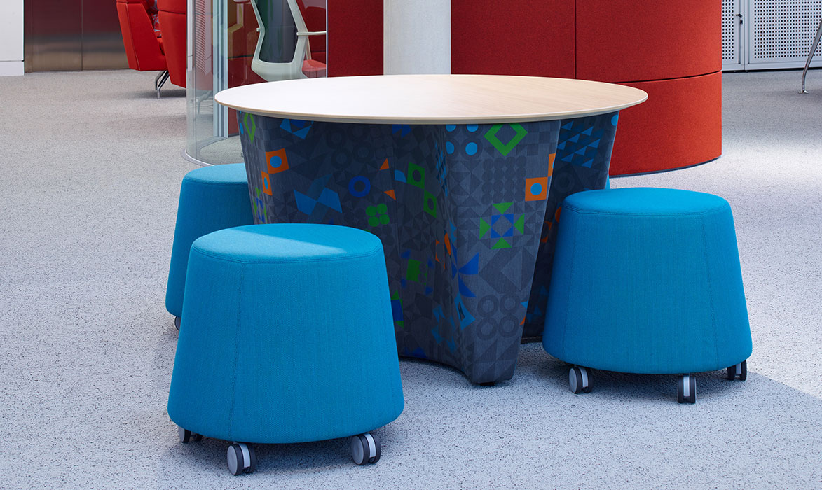 Sully stools around table
