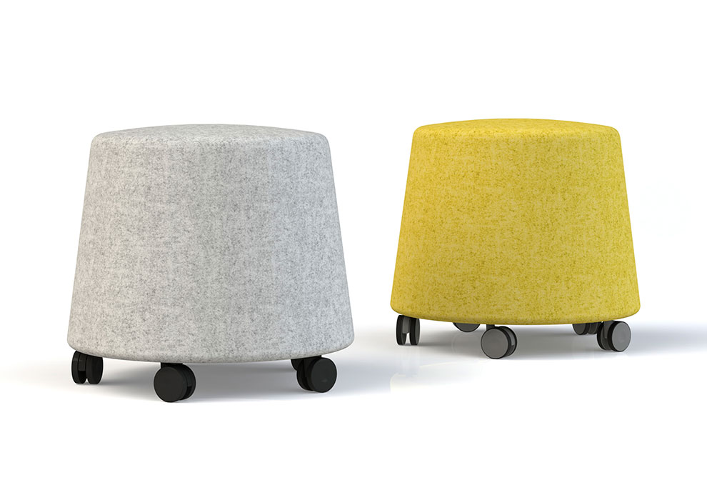 Sully stools with castors