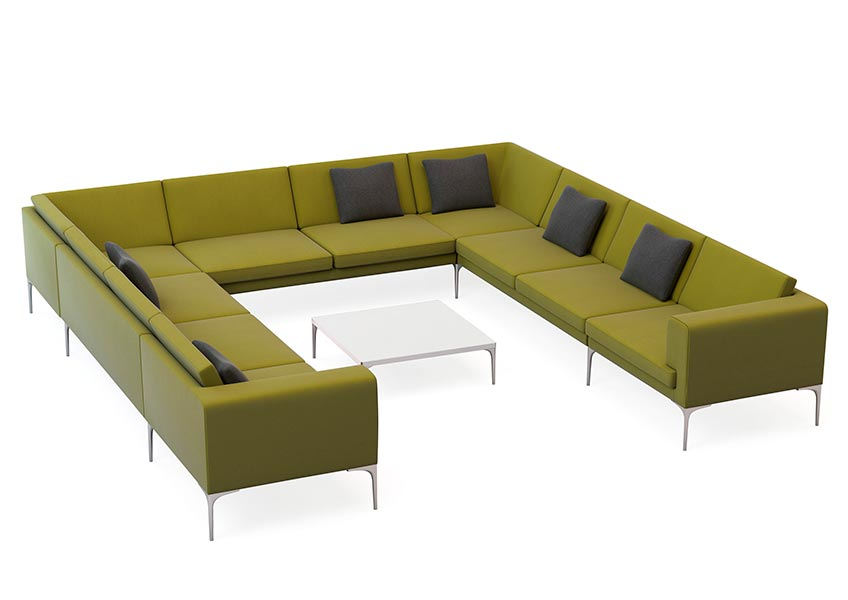 Vale Sofa Modular Upholstered Office Sofa