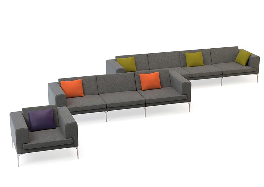 Vale sofas and arm chair