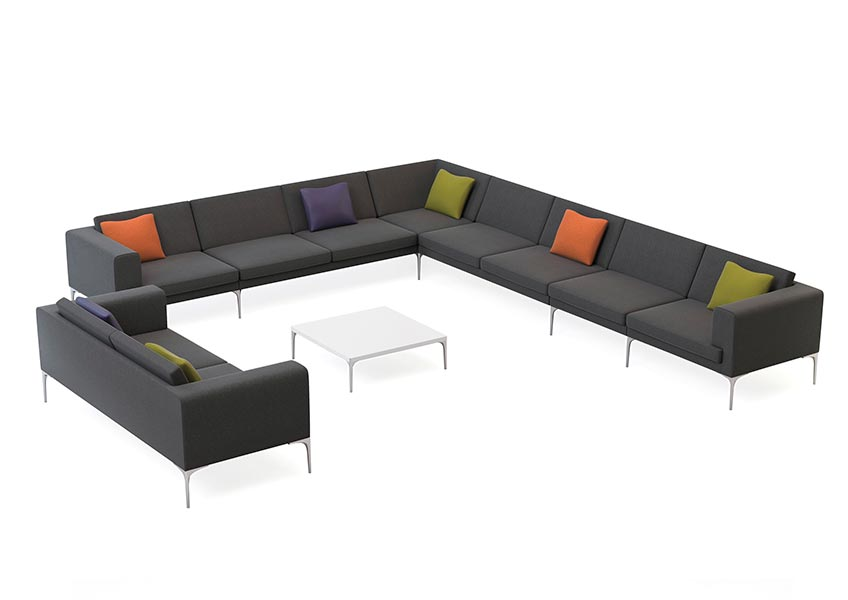Vale corner sofa with coffee table
