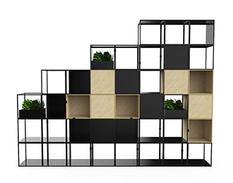 wire frame office shelving