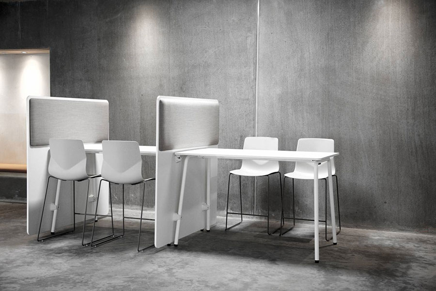 Fourreal partition white tables