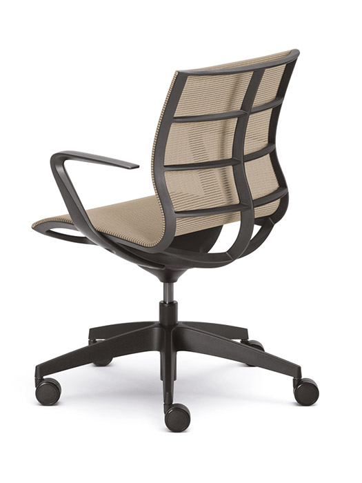 SE Joy black frame mesh chair