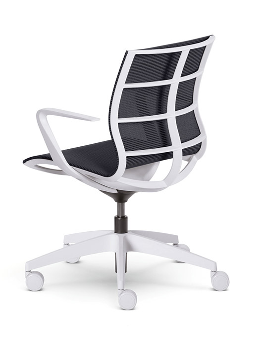 SE Joy white frame mesh chair